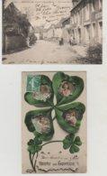 Puy De Dôme  MONTEL DE GELAT La Grande Rue Et Recevez Ce Souvenir (2 Cartes) - France
