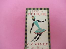 Carte Publicitaire Parfumée/Parfum FETICHE/ L T PIVER, Paris/ Calendrier /1928   PARF200 - Profumeria Antica (fino Al 1960)