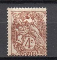 - FRANCE N° 110b Neuf ** MNH - 4 C. Brun Foncé Type Blanc - Cote 16 EUR - - 1900-29 Blanc
