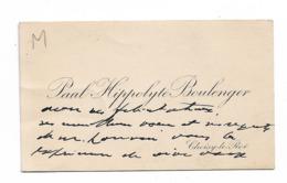 Paul Hippolyte BOULENGER   Choisy Le Roi      Cdv  Sd - Autographes