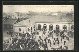 CPA Roanne, Concours Musical International 1908, La Gare - Roanne