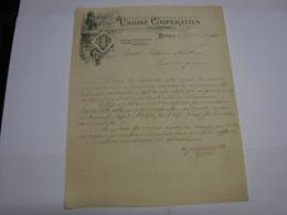 FIRENZE  ---  PERIODO  1800/1900   --- UNIONE COOPERATIVA DI CONSUMO - Italia