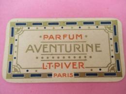 Carte Publicitaire Parfumée/Parfum AVENTURINE/ L T PIVER, Paris/ Calendrier /1913   PARF201 - Cartas Perfumadas