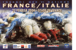 CP  Rugby France/Italie, 21 Février 2004 - Stade De France, Tournoi Des 6 Nations - Rugby
