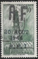 FRANCE LIBERATION..EMISSION INCONNUE D'époque..Voir Cat...LION P.311..10f Vert..Arras Obl.. - Liberación