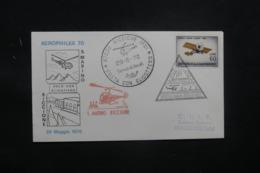 SAINT MARIN- Enveloppe Par Hélicoptère En 1970 Affranchissement Et Cachets Plaisants - L 42379 - Lettres & Documents