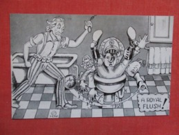 US Propaganda  ---    Uncle Sam  Making A Royal Flush      Ref 3608 - Guerra 1939-45