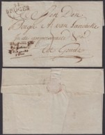 "BELGIQUE 1810 LETTRE "" 91 BRUGES "" VERS GEND (DD) DC-4014 - 1794-1814 (Période Française)"