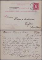 "BELGIQUE EP 10c OBL AMBULANT ""EST 2"" 05/08/1884 GRIFFE ""BRUXELLES""VERS ALLEMAGNE (DD) DC-4018 - Stamped Stationery"