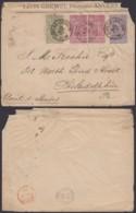 BELGIQUE COB 68+69 X2+70 SUR LETTRE ANVERS 15/11/1894  (DD) DC-4024 - 1894-1896 Expositions