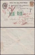 BELGIQUE COB 203 SUR LETTRE DE METTET 16/07/1927 VERS FLEURUS TAXE 2X10C (DD) DC-4026 - 1922-1927 Houyoux