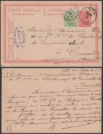 """BELGIQUE EP 10 COB 137 DE LOTH 05/09/1921 PERFORE """" S.L. """"VERS COURCELLES  (DD) DC-4040 - Perfins"""