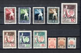 Letonia   1919-21  .-   Y&T  Nº   39/42 - 43/46 - 47/49 - Letonia