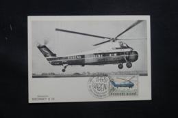 BELGIQUE - Carte Maximum 1957 - Hélicoptère - L 42390 - Maximumkarten (MC)