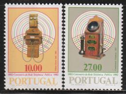 PORTUGAL - N°1541/2 ** (1982) Téléphone - 1910-... Republic