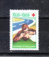 Finlandia  - 1966. Respirazione Bocca Bocca. Croce Rossa. Mouth Mouth Breathing. Red Cross. MNH - Primo Soccorso