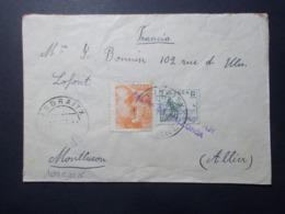 Marcophilie - Lettre Enveloppe Obliteration - Timbres ESPAGNE Destination FRANCE - Censure Allemande (2528) - 1931-50 Brieven