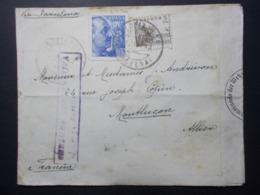 Marcophilie - Lettre Enveloppe Obliteration - Timbres ESPAGNE Destination FRANCE - Censure Allemande (2529) - 1931-Today: 2nd Rep - ... Juan Carlos I