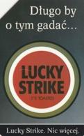 POLONIA. TABACO - TOBACCO. Lucky Strike. 50U. 109. (184) - Polonia