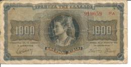 GREECE 1.000 DRACHMAI 1942 - Greece