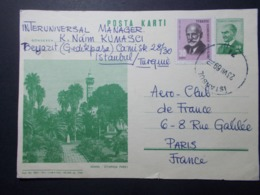 Marcophilie - Lettre Enveloppe Obliteration - Timbres TURQUIE Entier Postal (2530) - Briefe U. Dokumente