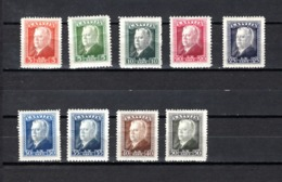Letonia   1937  .-   Y&T  Nº   222/230 - Letonia