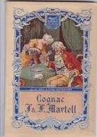 """Carnet Gaufré""""COGNAC MARTELL""""femme Sert Un Verre à Vieux Monsieur""""je Lui Dois D'être Centenaire""""vigne""""raisins""""gants"""" - Andere Verzamelingen"""