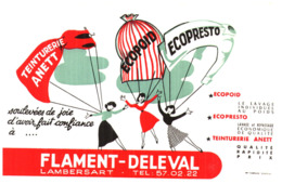 "Tei F D/Buvard Teinturerie  ""Flament Deleval (Format 21 X 13.5) (N= 7) - Buvards, Protège-cahiers Illustrés"