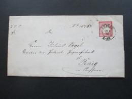 DR Brustschild 1874 Brief / Geprägtes Briefpapier Des Finanz Ministerium Berlin - Penig Königliches Finanz Ministerium - Deutschland
