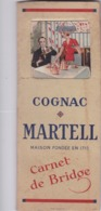CARNET DE BRIDGE COGNAC MARTELL - Andere Verzamelingen