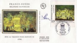 FDC 1er Jour :Relations Culturelles France-Suéde 18/03 /1994 N°2870 Signé Ceslav SLANIA - 1990-1999