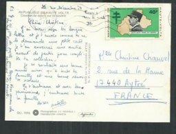 Haute Volta. Le Général De Gaulle , Timbre Sur Carte Postale - Haute-Volta (1958-1984)
