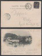AMBULANT - CONVOYEUR LIGNE / 1900 LIGNE BUSSANG A EPINAL SUR CARTE POSTALE POUR METZ  (ref LE304) - 1898-1900 Sage (Type III)