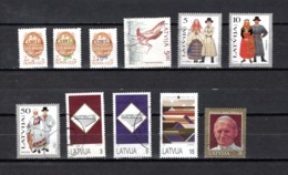 Letonia   1991-93  .-   Y&T  Nº   300/302-305-315/316-318-321/323-324 - Letonia