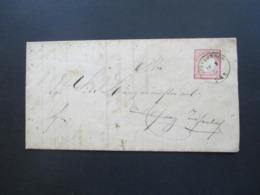 DR Brustschild 1874 Brief Mit Inhalt Stempel K1 Tiefenbach Michel Nr. 25 EF 3 Kreuzer - Germany