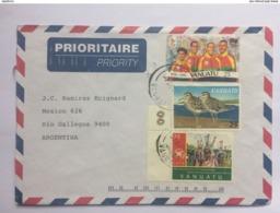 VANUATU 2007 Air Mail Cover To Argentina - Vanuatu (1980-...)