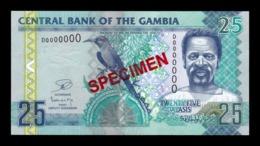 Gambia 25 Dalasis 2006-2013 Pick 27c Specimen SC UNC - Gambia
