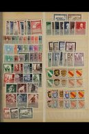 EUROPEAN COUNTRIES NEVER HINGED MINT ASSEMBLY 1919 To Early 1970's Stamps With Only Light Duplication In Two Stockbooks, - Timbres