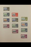 BRITISH COMMONWEALTH - 1935 SILVER JUBILEE UNFINISHED PROJECT AFINE MINT COLLECTION, Neatly Presented In An Album, An A - Timbres