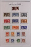 1937 CORONATION VERY FINE USED Complete Omnibus Collection From GB And The Br Empire (202 Stamps) For More Images, Pleas - Timbres