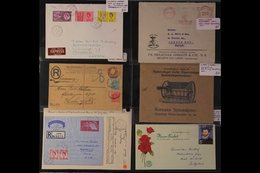 FARMING, GROWERS & FLOWERS ADVERTISING ENVELOPES, METER MAIL & POSTMARKS - Each With Something Relating To The Theme, He - Timbres