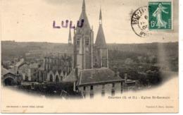 DEPT 91 : édit. Pape. C Sevin : Dourdan église Saint Germain : Semi-bromure A Breger Frères - Dourdan