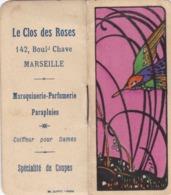MARSEILLE / LE CLOS DES ROSES / 142 BOULEVARD CHAVE / PETIT CALENDRIER 1927 - Calendarios