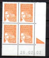 Col12   France Coin Daté N° 3447 / 3425 Luquet  26 02 02  Neuf XX MNH Luxe - 2000-2009