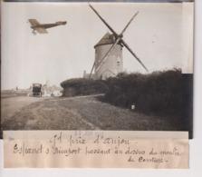GRAND PRIX D'ANJOU ESPANET S NIEUPORT PASSANT MOULIN DE COUTURE   18*13CM Maurice-Louis BRANGER PARÍS (1874-1950) - Aviación