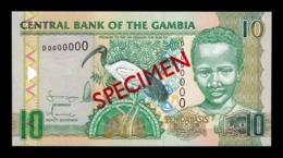 Gambia 10 Dalasis 2006-2013 Pick 26a Specimen SC UNC - Gambia