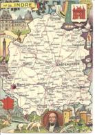 CARTE GEOGRAPHIQUE - Département De L'INDRE - Par PINCHON - Landkarten