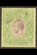 1921 (wmk Mult Script CA) KGV 3R Violet And Green, SG 73, Used With Neat Light Squared Circle Cancel, Small Thin In Top  - Publishers