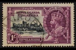 """1935 SILVER JUBILEE VARIETY 1s Slate & Purple """"LINE THROUGH '0' OF 1910"""" Variety, SG 127L, Fine Cds Used For More Images - Publishers"""