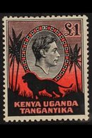 1938 £1 Black And Red, Perf. 11¾ X 13, SG 150, Very Fine Mint. For More Images, Please Visit Http://www.sandafayre.com/i - Publishers